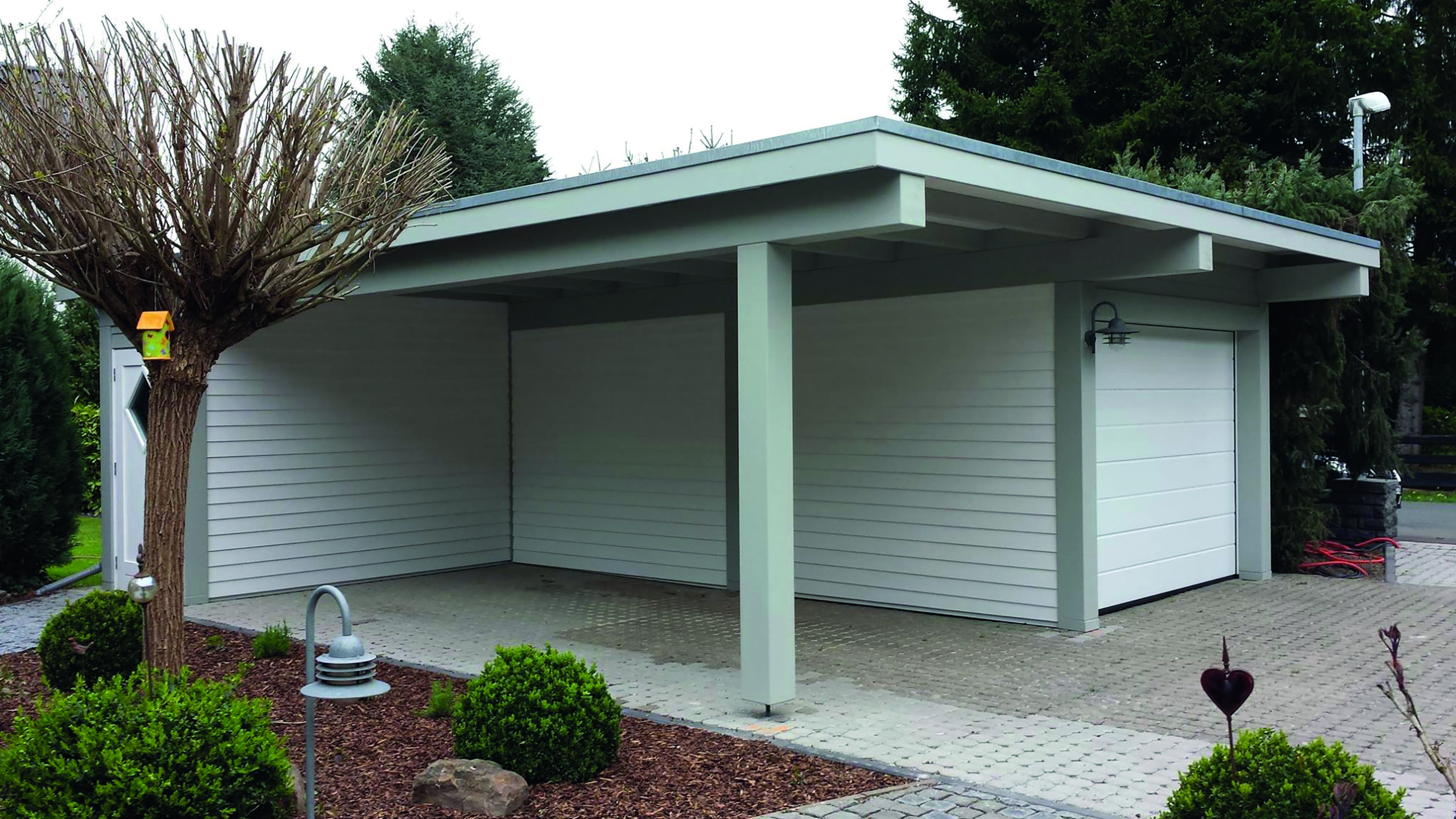 Carport, Garage, Stülpschalung