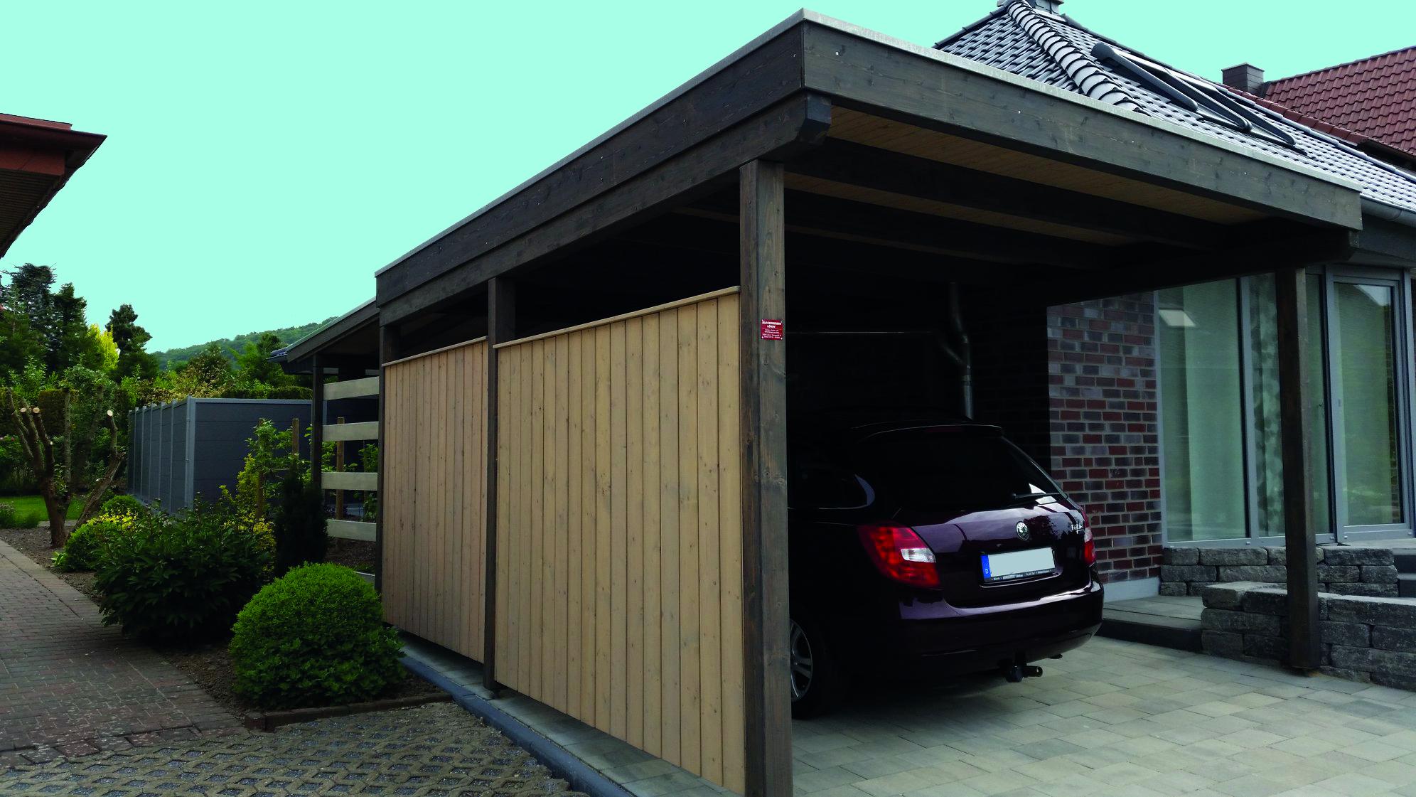 Carport, Holzlager